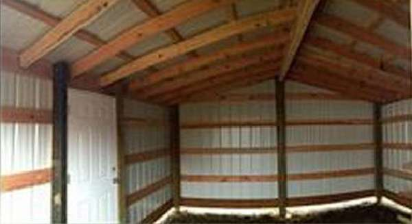 24 x 24 pole building rafter roof loft joy studio design for Pole barn material list free