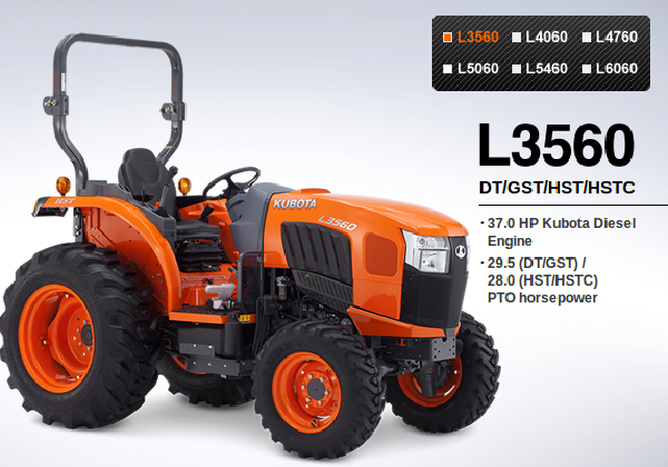 Kubota Review: Kubota-L3560-L4060-L4760-L5060-L5460-L6060-Tractor-Reviews