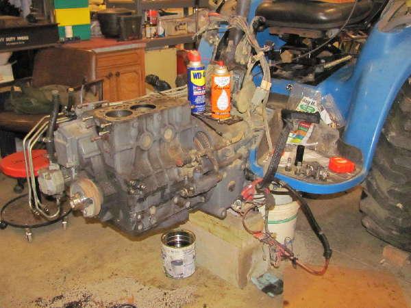Tractor Engine Repair Rebuild: Overheated-TC33D-Engine-Rebuild-how-to-Split