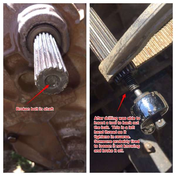 John Deere Gator - Input shaft spline or keyed