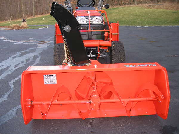 bx2750 kubota front snowblower new pix by dennisctb kubota rh tractorpoint com Kubota Tractor with Snowblower Kubota BX23 Snowblower