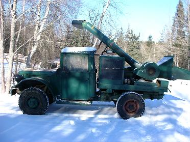 1953 M37, Military version Dodge 3/4 ton 4X4 truck. It has a 16 inch  Wayne drum chipper on the back powered by a 318 industrial engine. It will go most anywhere.