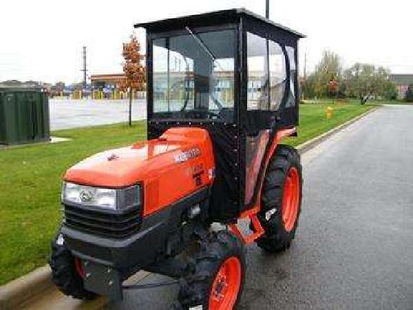 This was an aftermarket soft cab for sale that is on some other kubota. I kind of modeled my cab after this one.