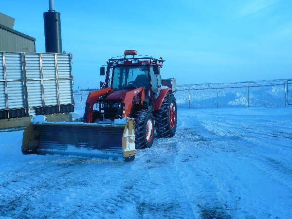 My M 108 out ploughing a local Gas Compressor site winter 2011
