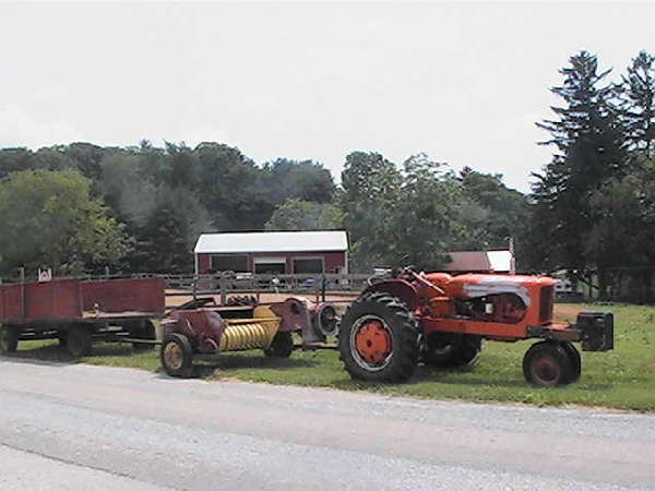 Allis Chalmers wd45 & New Holland 66 Baler <br>