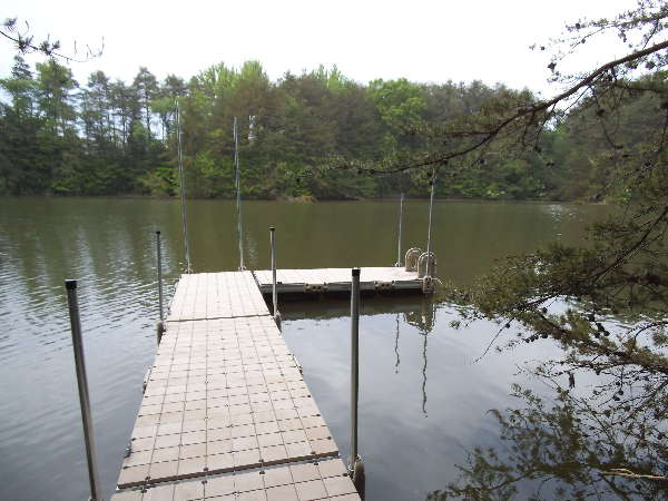 We put this 40ft. floating dock in last summer.
