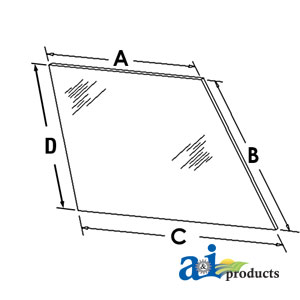 A-70577185 GLASS REAR WINDOW