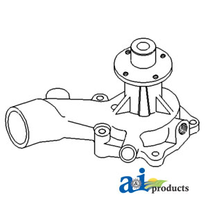 A-74007666 WATER PUMP; L/ PULLEY